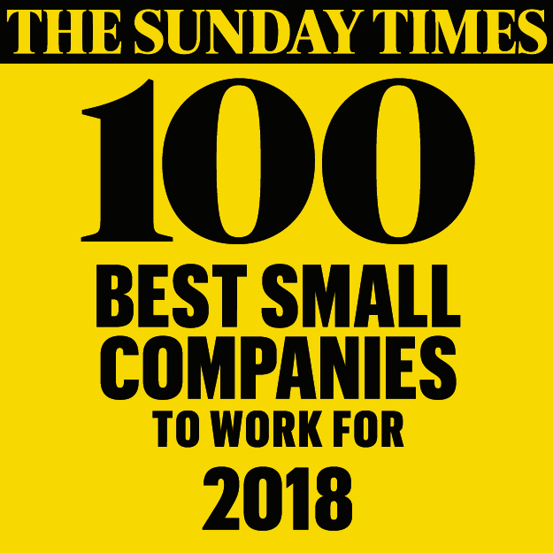 The Sunday Times - 100 Best Small Companies to Work For 2018