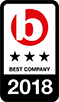 Best Company - 3 star award, 2018